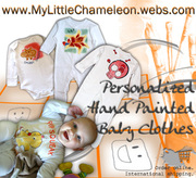 Personalized Hand Painted Baby Clothes