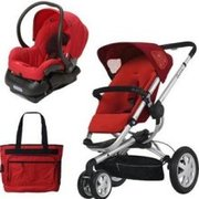 Quinny CV080RLRTRV Zapp Xtra Travel System with Diaper Bag and Car