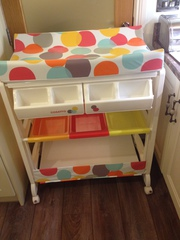 Changing unit,  Chairs,  Pumps, Moses Basket